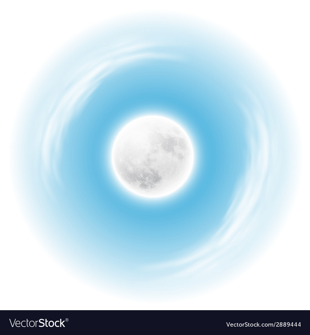 Sky with the moon vector | Price: 1 Credit (USD $1)