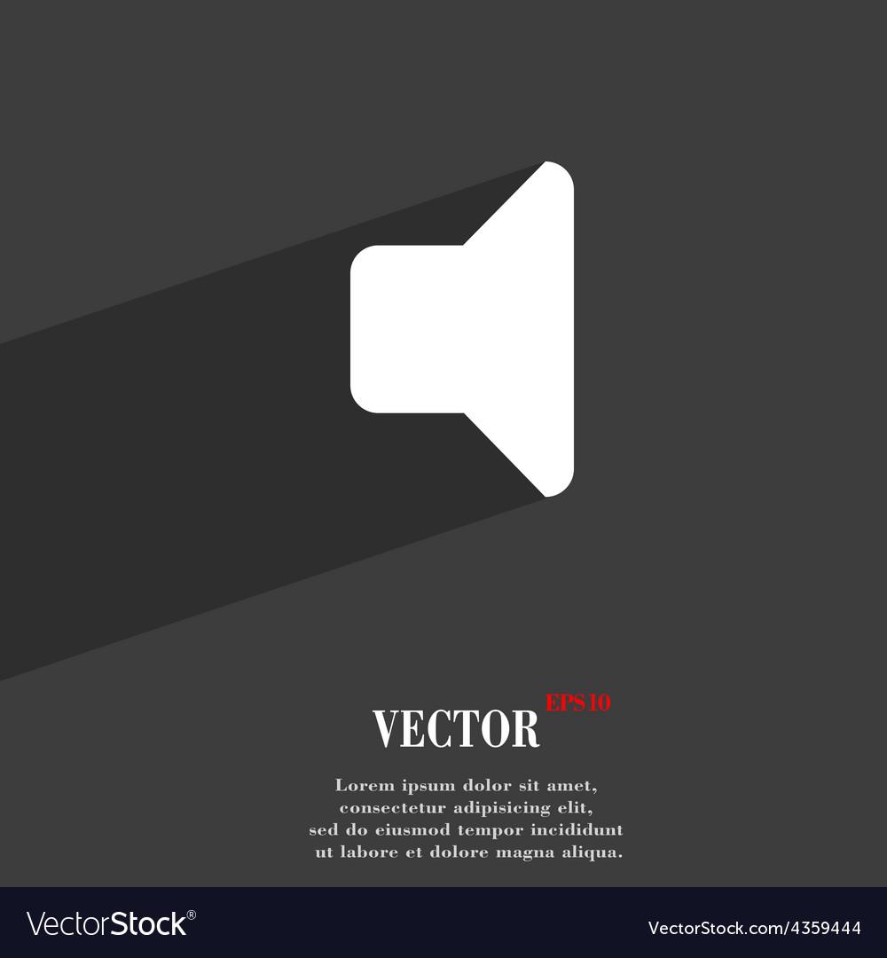 Speaker volume sound icon symbol flat modern web vector | Price: 1 Credit (USD $1)