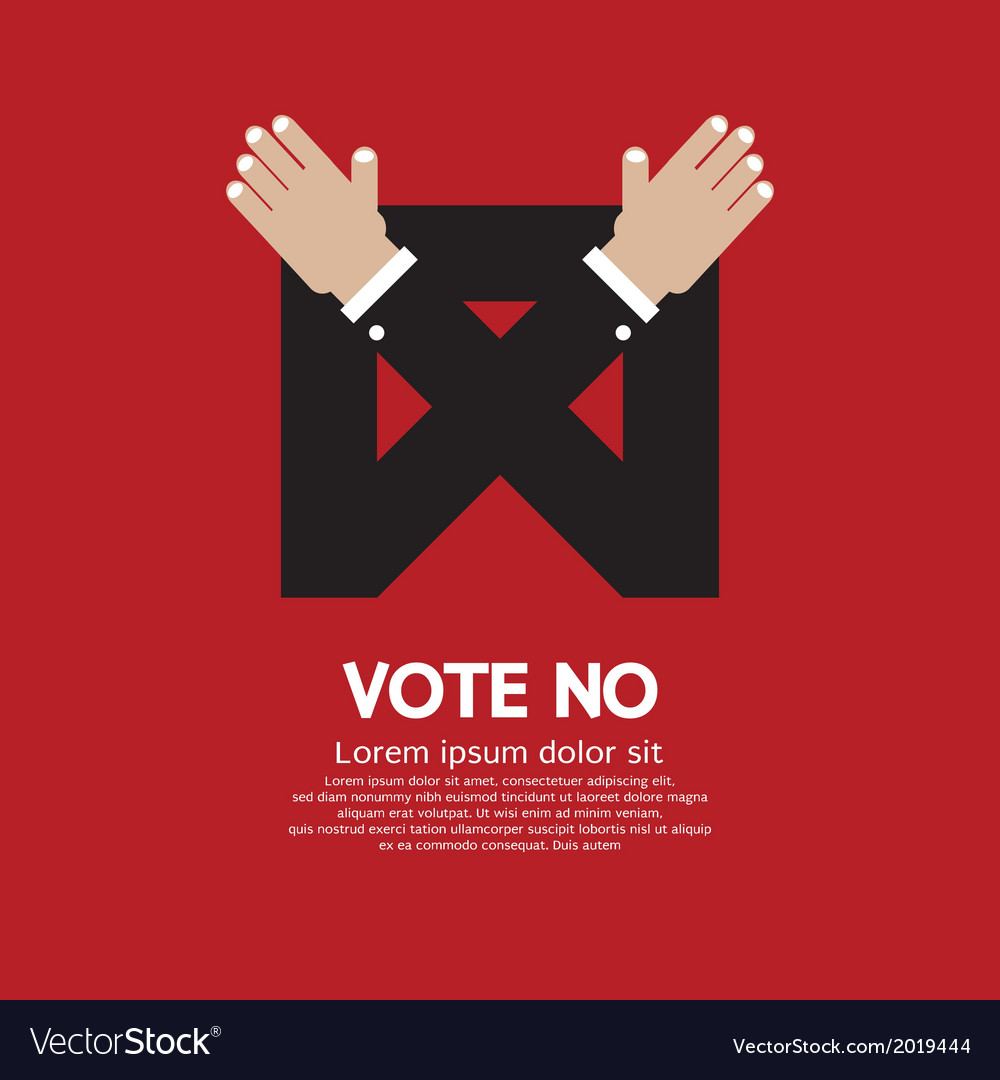 Vote no vector | Price: 1 Credit (USD $1)