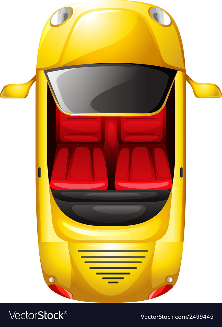 A topview of a yellow car vector | Price: 1 Credit (USD $1)