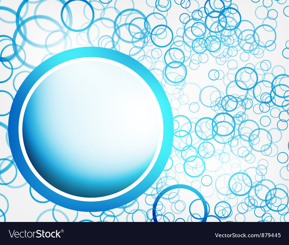 Abstract circle blue curve vector | Price: 1 Credit (USD $1)
