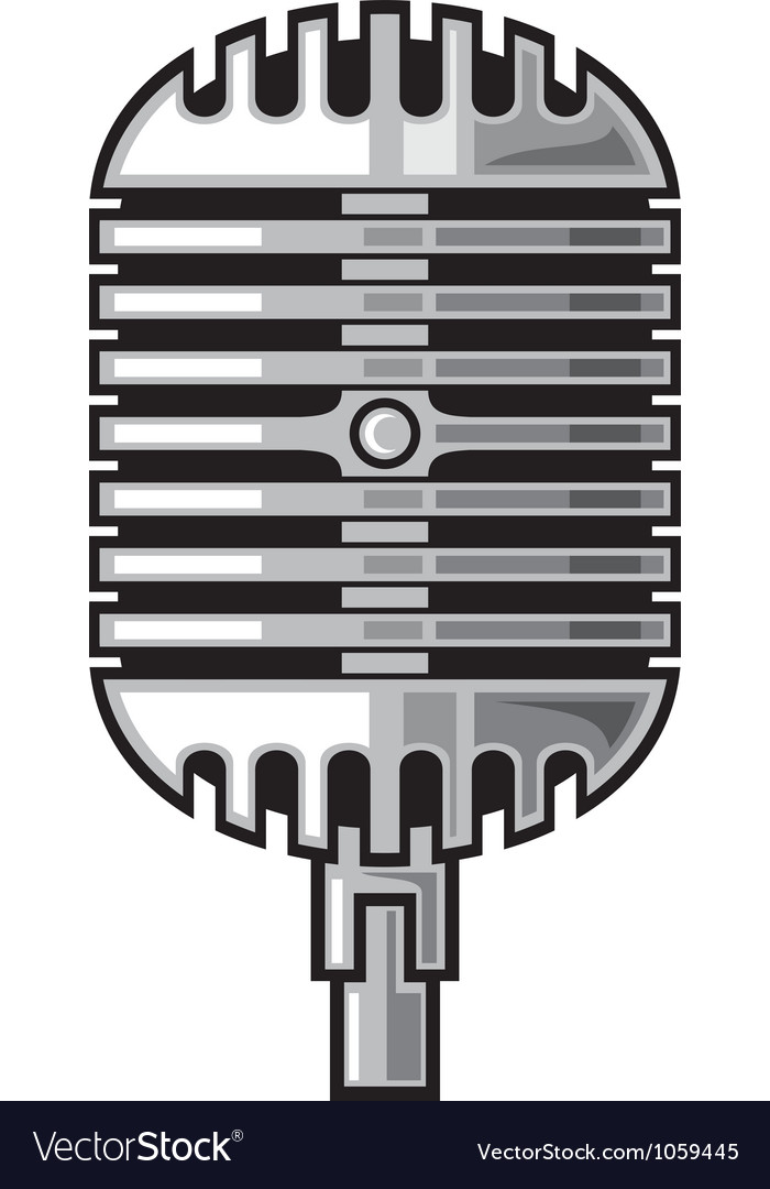 Classic microphone vector | Price: 1 Credit (USD $1)