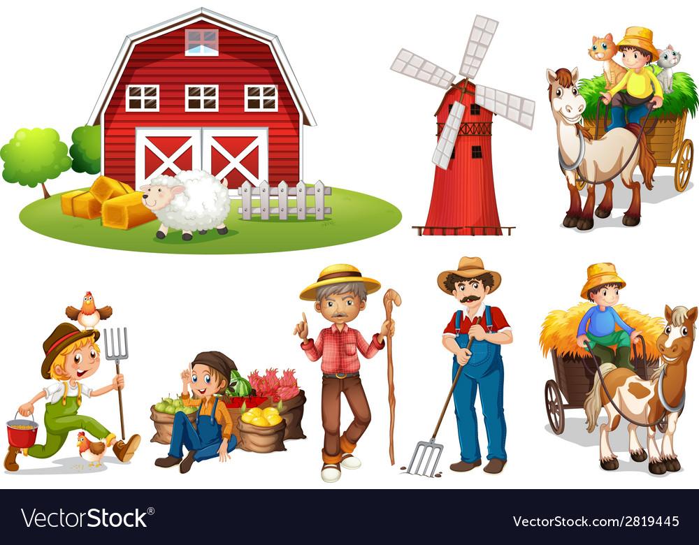Farm set vector | Price: 3 Credit (USD $3)
