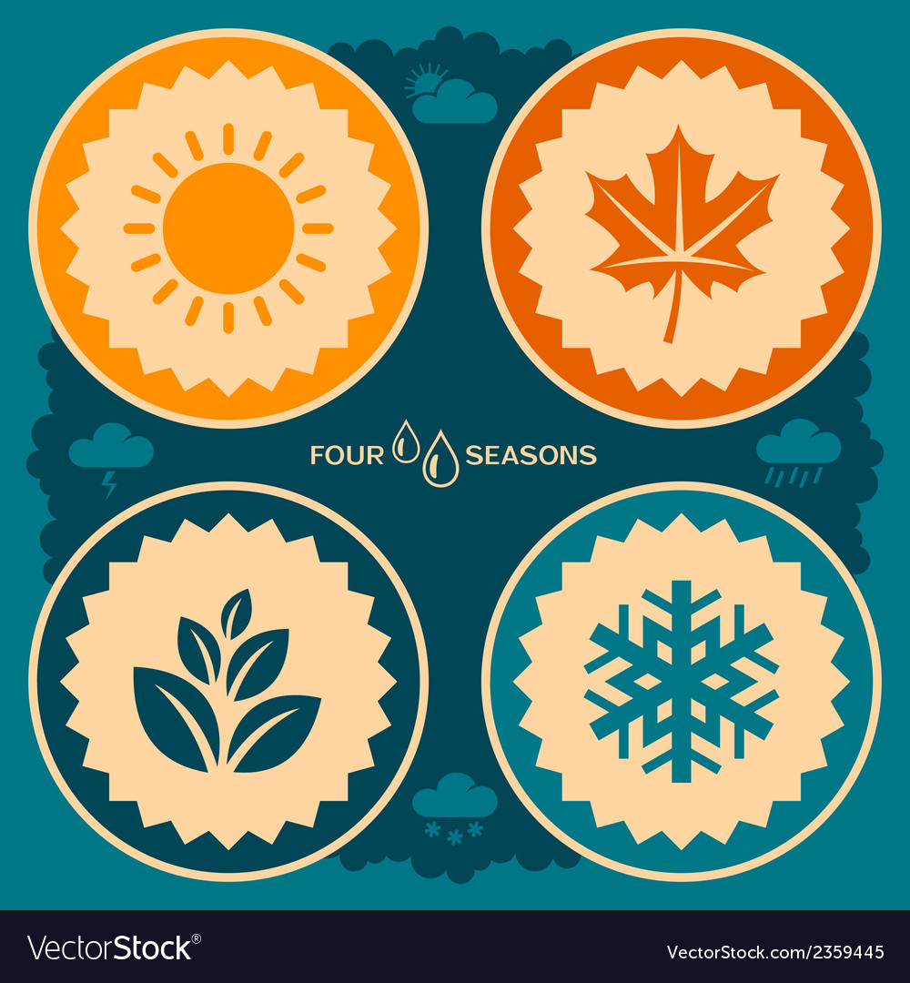 Four seasons design vector | Price: 1 Credit (USD $1)