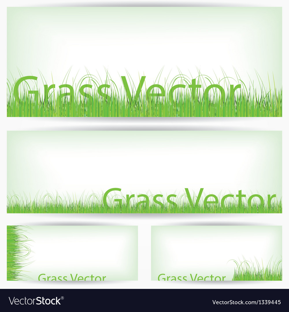 Green grass set isolated on white background vector | Price: 1 Credit (USD $1)