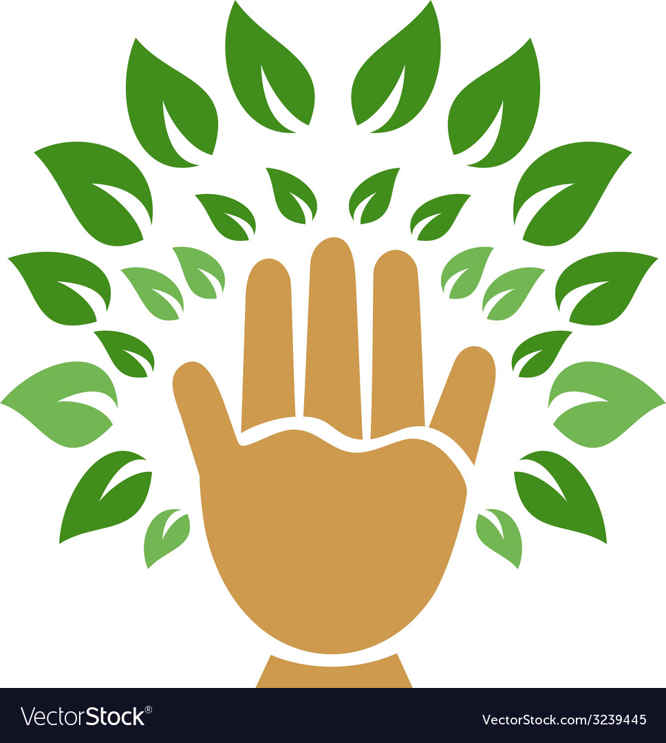 Hand tree symbol vector | Price: 1 Credit (USD $1)