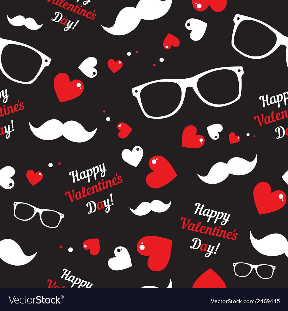 Hipster symbols valentines day background vector | Price: 1 Credit (USD $1)