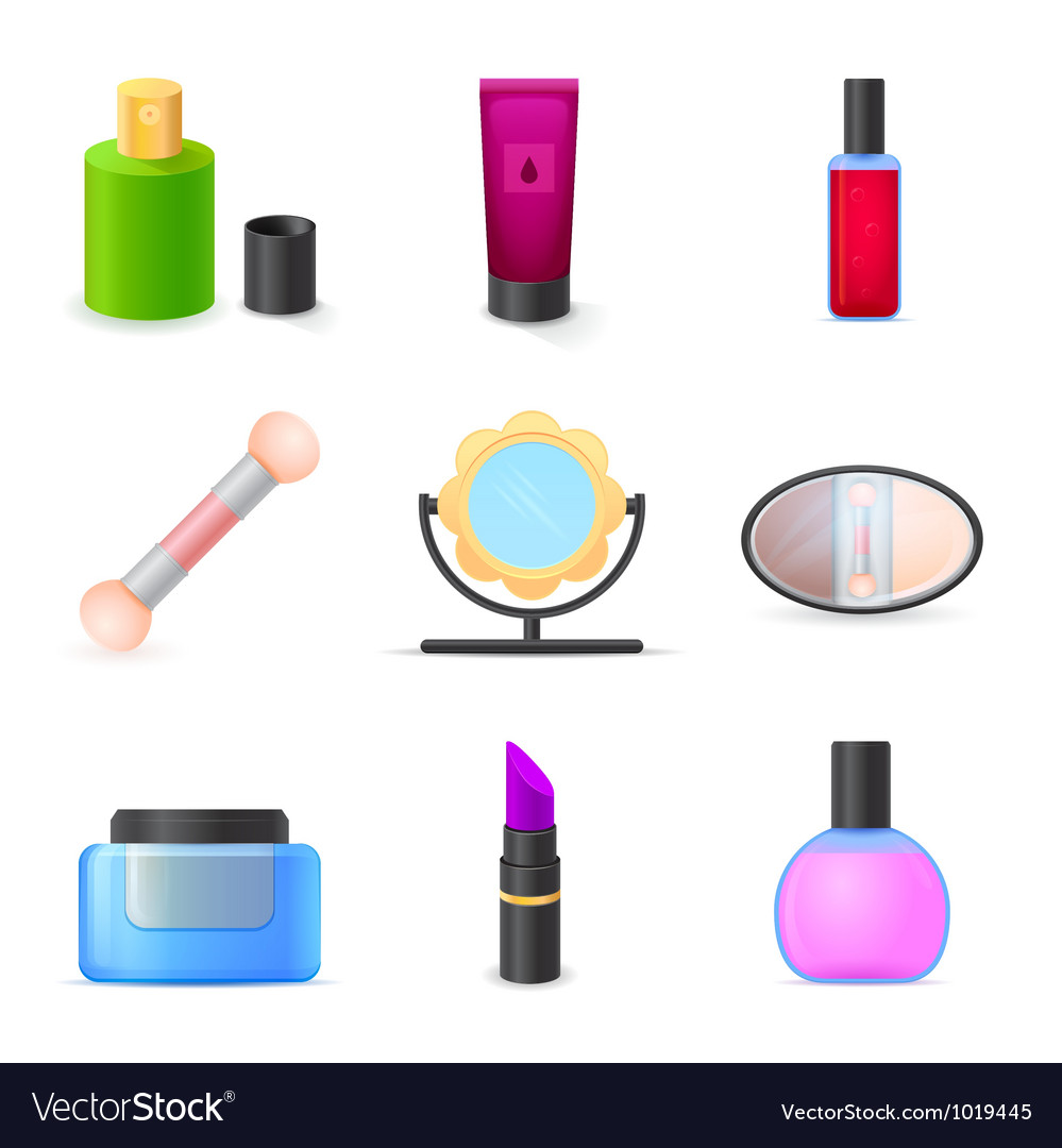 Icons set woman accessories vector | Price: 1 Credit (USD $1)