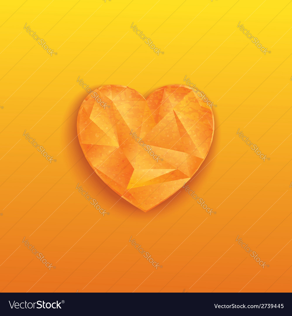 Orange heart vector | Price: 1 Credit (USD $1)