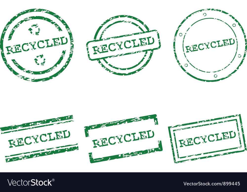 Recycled stamps vector | Price: 1 Credit (USD $1)