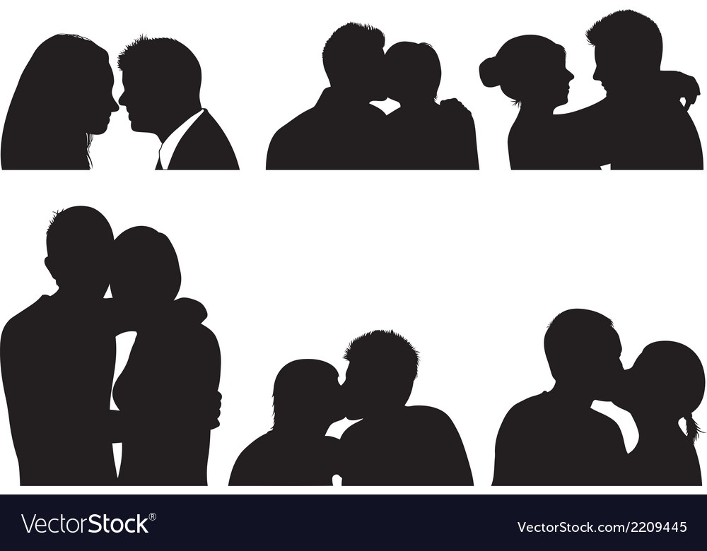 Set of couple in different positions vector | Price: 1 Credit (USD $1)