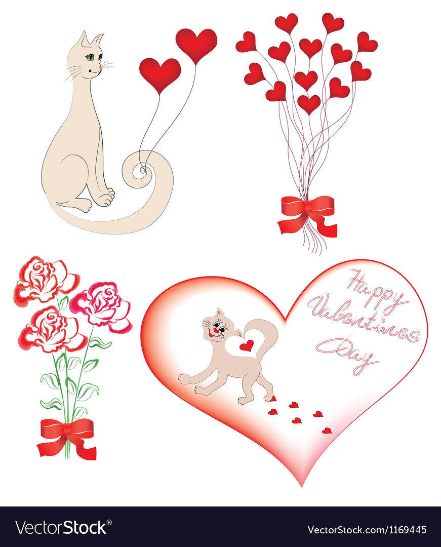 Set of elements for valentine vector | Price: 1 Credit (USD $1)