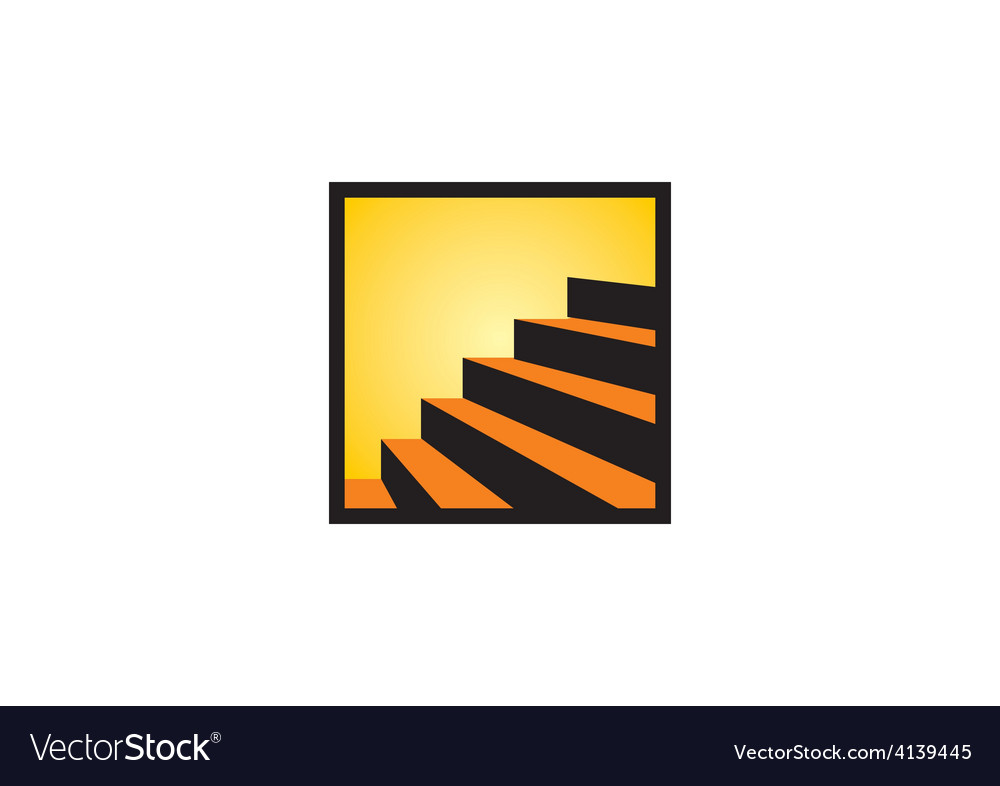 Stair interior design abstract logo vector | Price: 1 Credit (USD $1)