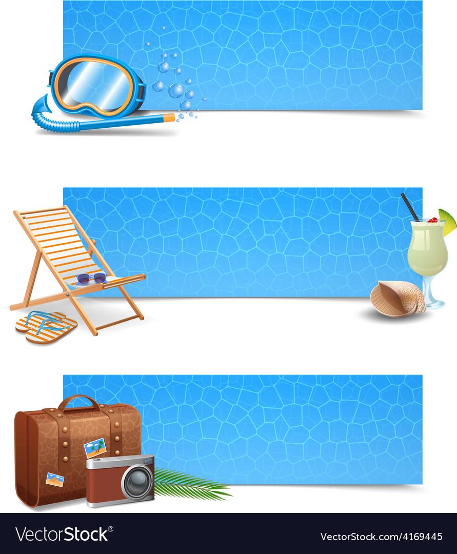 Travel banner set vector | Price: 5 Credit (USD $5)