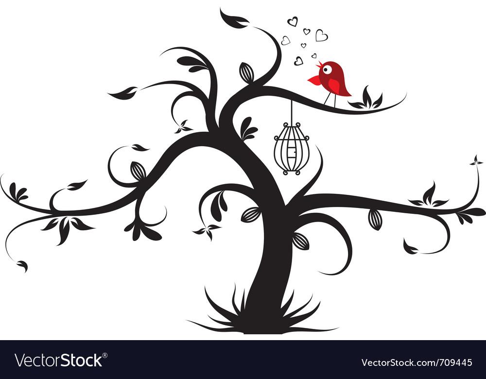 Valentines tree background vector | Price: 1 Credit (USD $1)