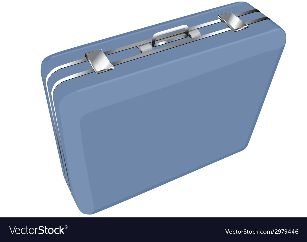 Blue suitcase vector | Price: 1 Credit (USD $1)