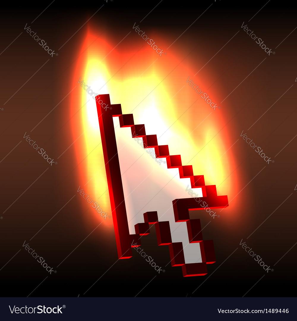 Burning computer cursor arrow vector | Price:  Credit (USD $)