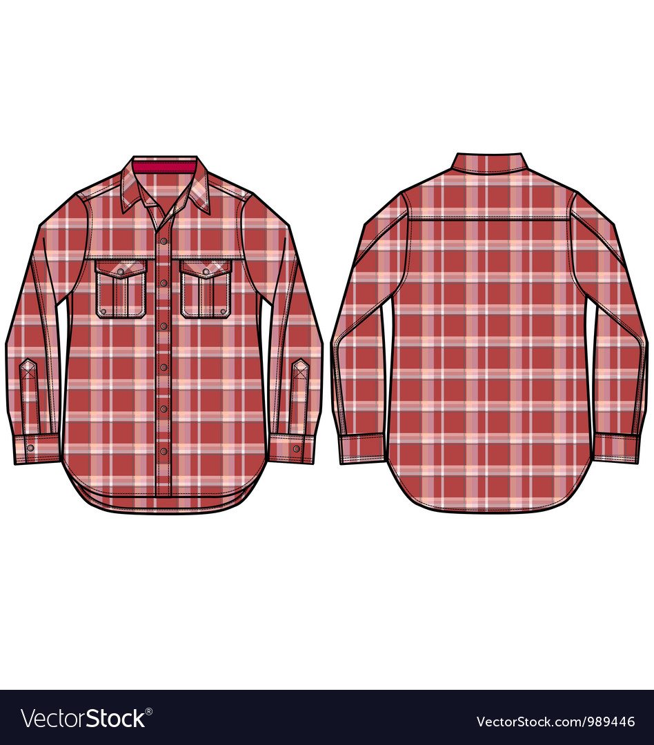 Check pattern shirt design vector | Price: 1 Credit (USD $1)