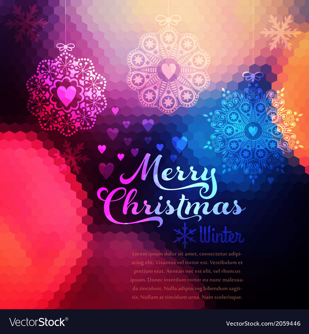 Christmas background christmas ball retro backdrop vector | Price: 1 Credit (USD $1)