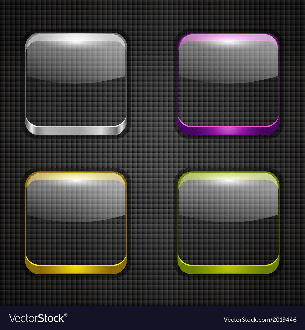 Colored app buttons set vector | Price: 1 Credit (USD $1)