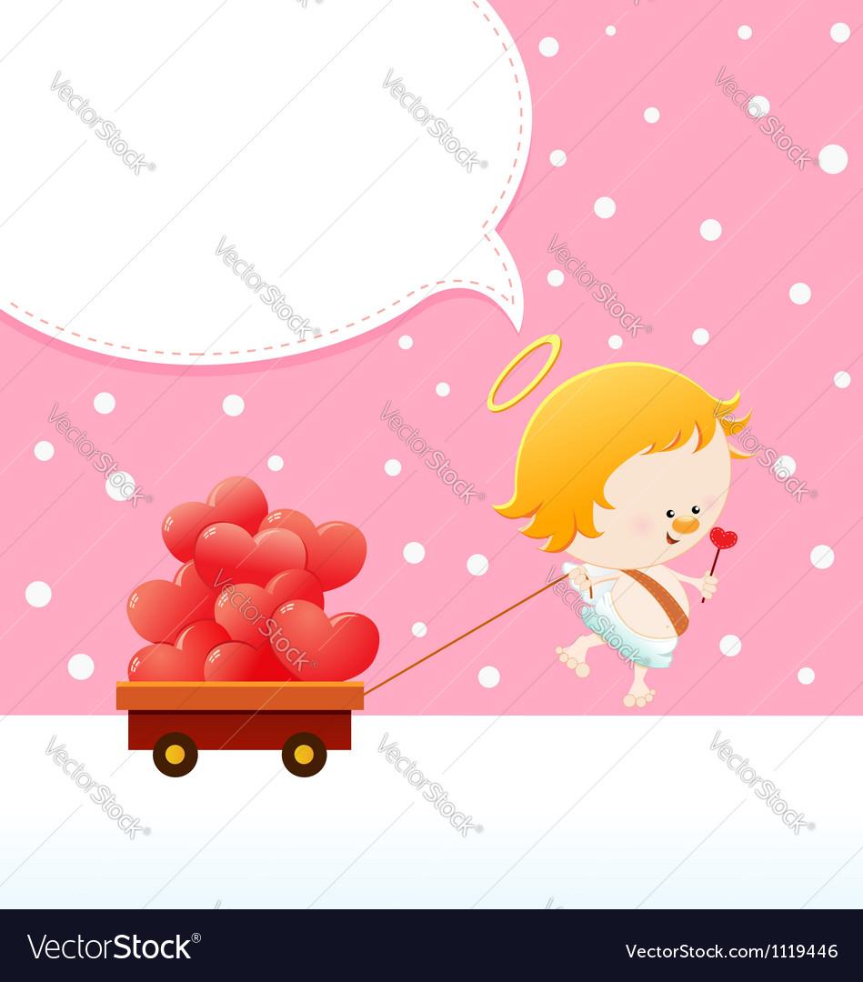 Cupid delivering love vector | Price: 1 Credit (USD $1)