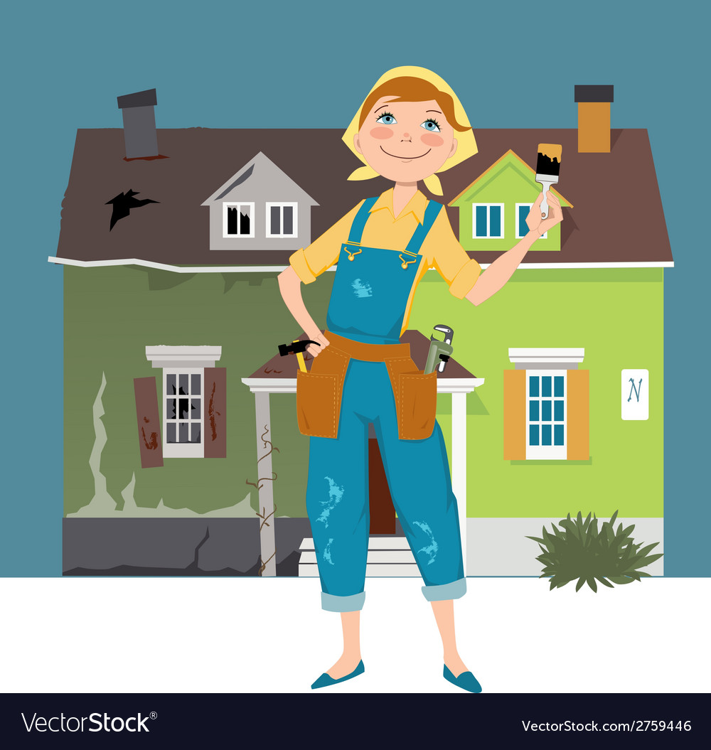 Flipping a house vector | Price: 1 Credit (USD $1)