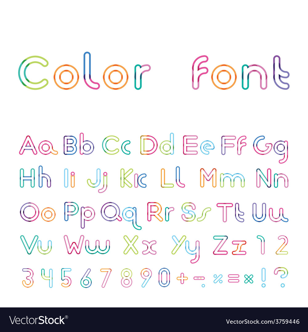 Font from a color inking vector | Price: 1 Credit (USD $1)