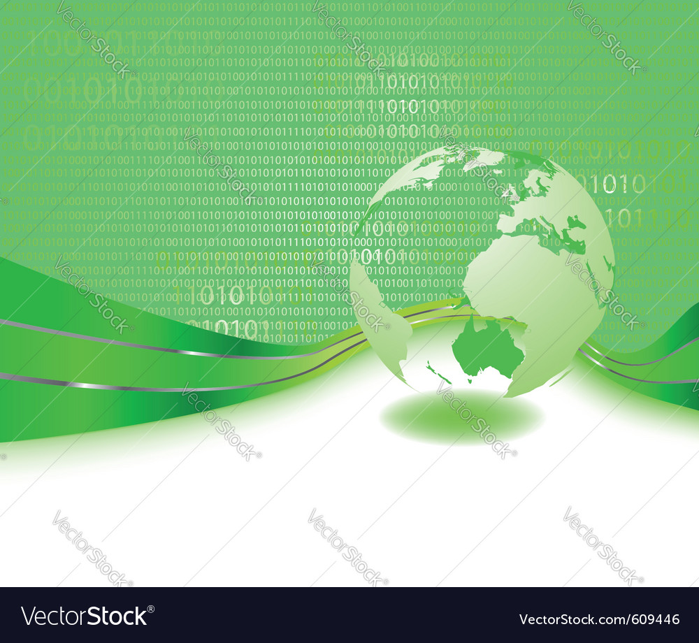 Green informational planet - business concept vector | Price: 1 Credit (USD $1)