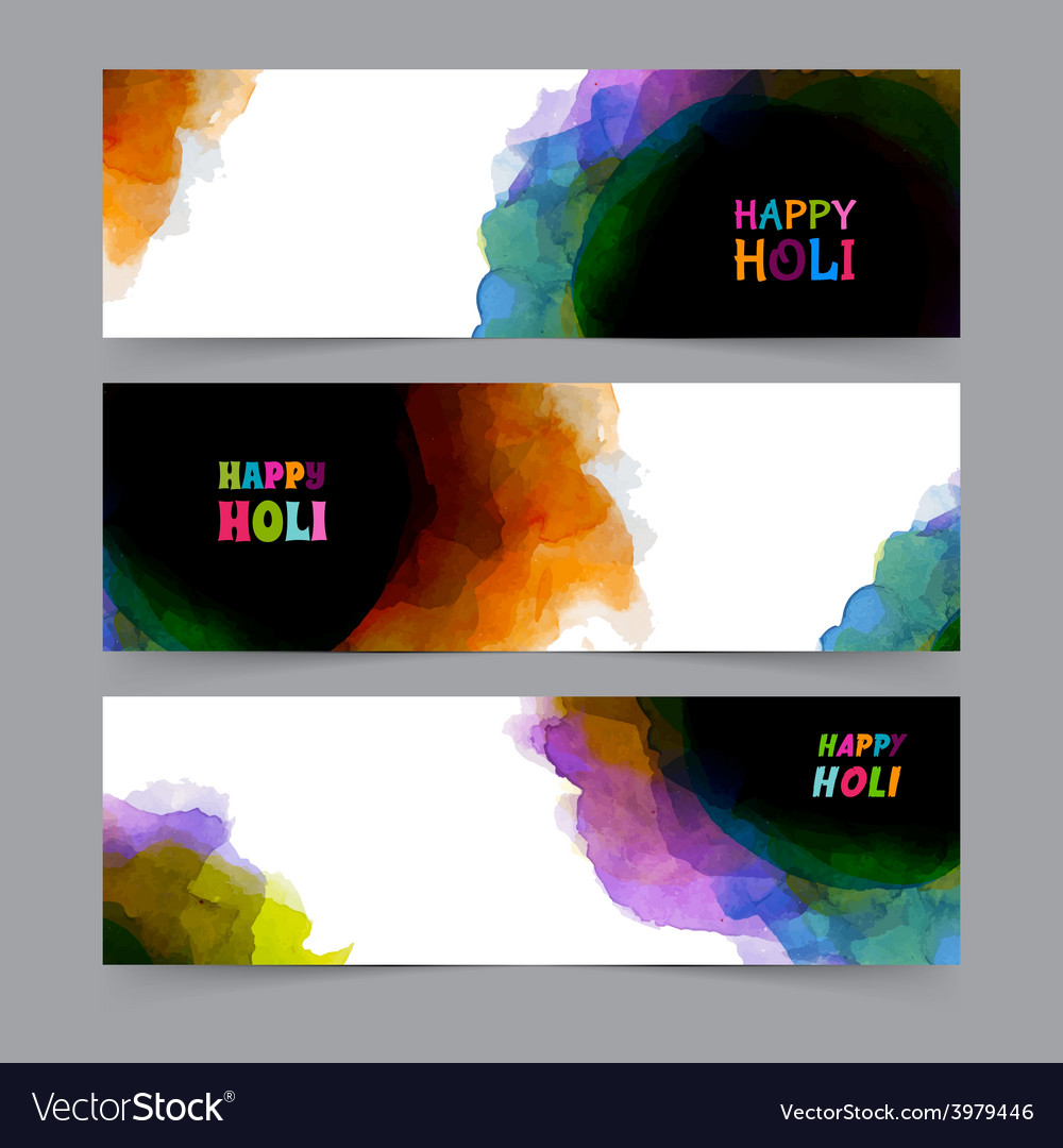 Happy holi card template vector   Price: 1 Credit (USD $1)