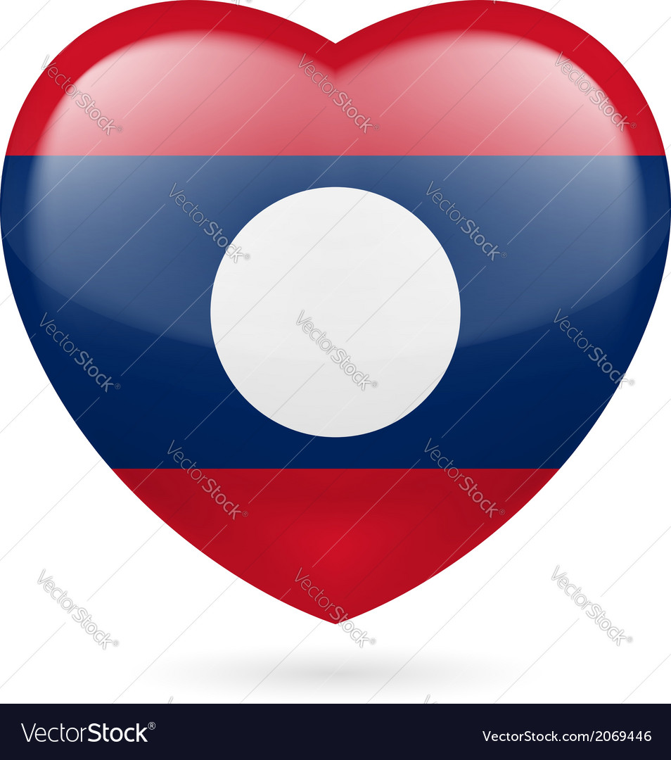 Heart icon of laos vector | Price: 1 Credit (USD $1)