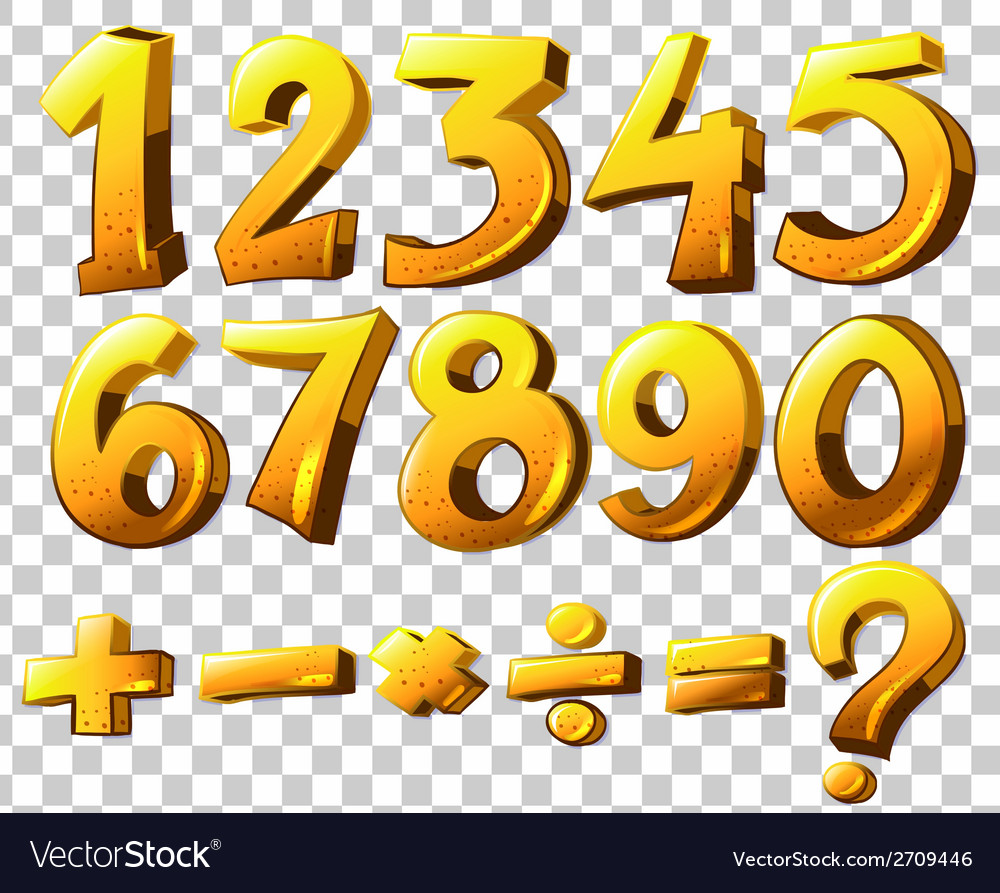 Numbers and symbols vector | Price: 1 Credit (USD $1)
