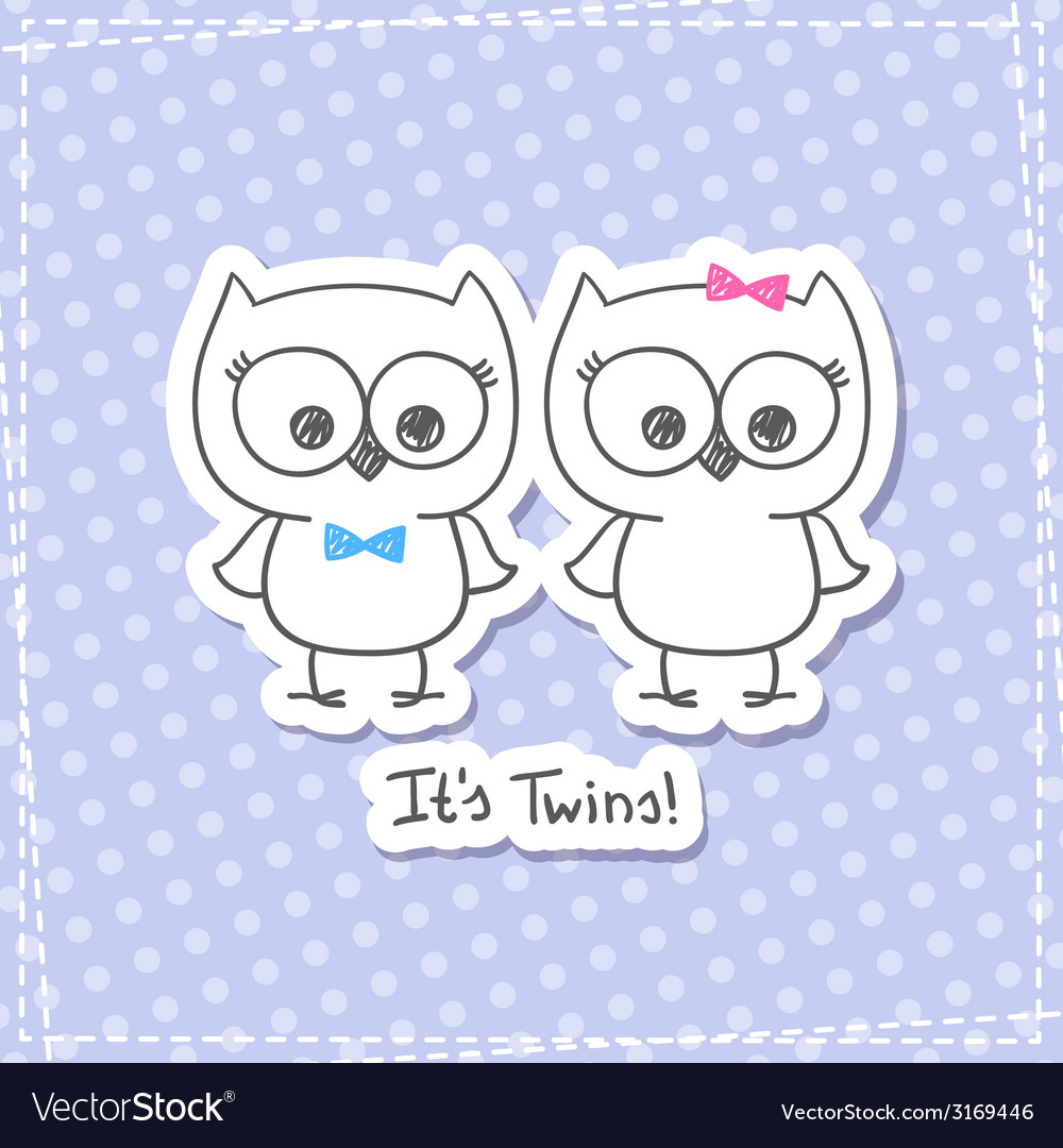 Owls twins vector   Price: 1 Credit (USD $1)
