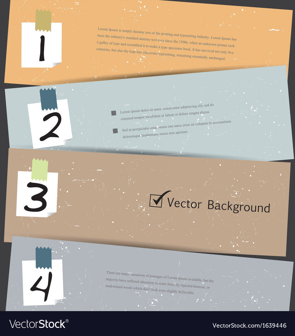 Paper number step banner vector | Price: 1 Credit (USD $1)