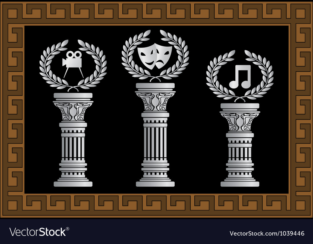 Pedestal of arts vector | Price: 1 Credit (USD $1)