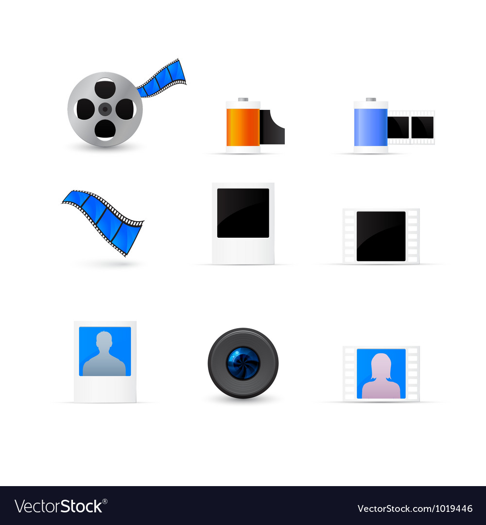 Photo and video icons set vector | Price: 1 Credit (USD $1)