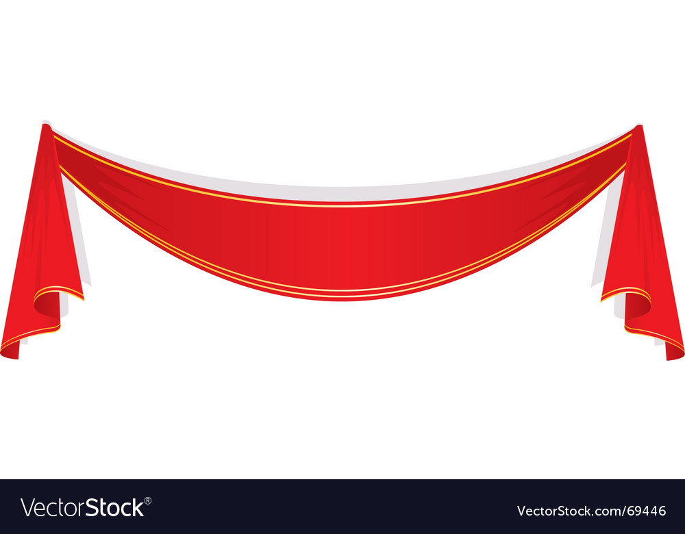 Red ribbon vector | Price: 1 Credit (USD $1)