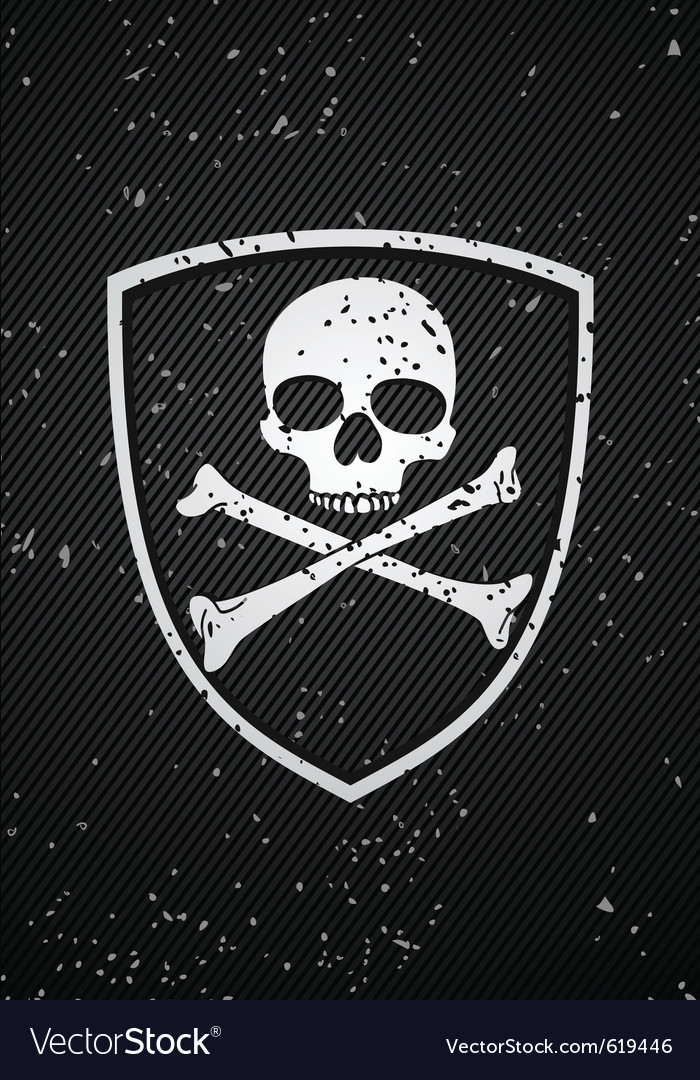 Skull badge vector | Price: 1 Credit (USD $1)