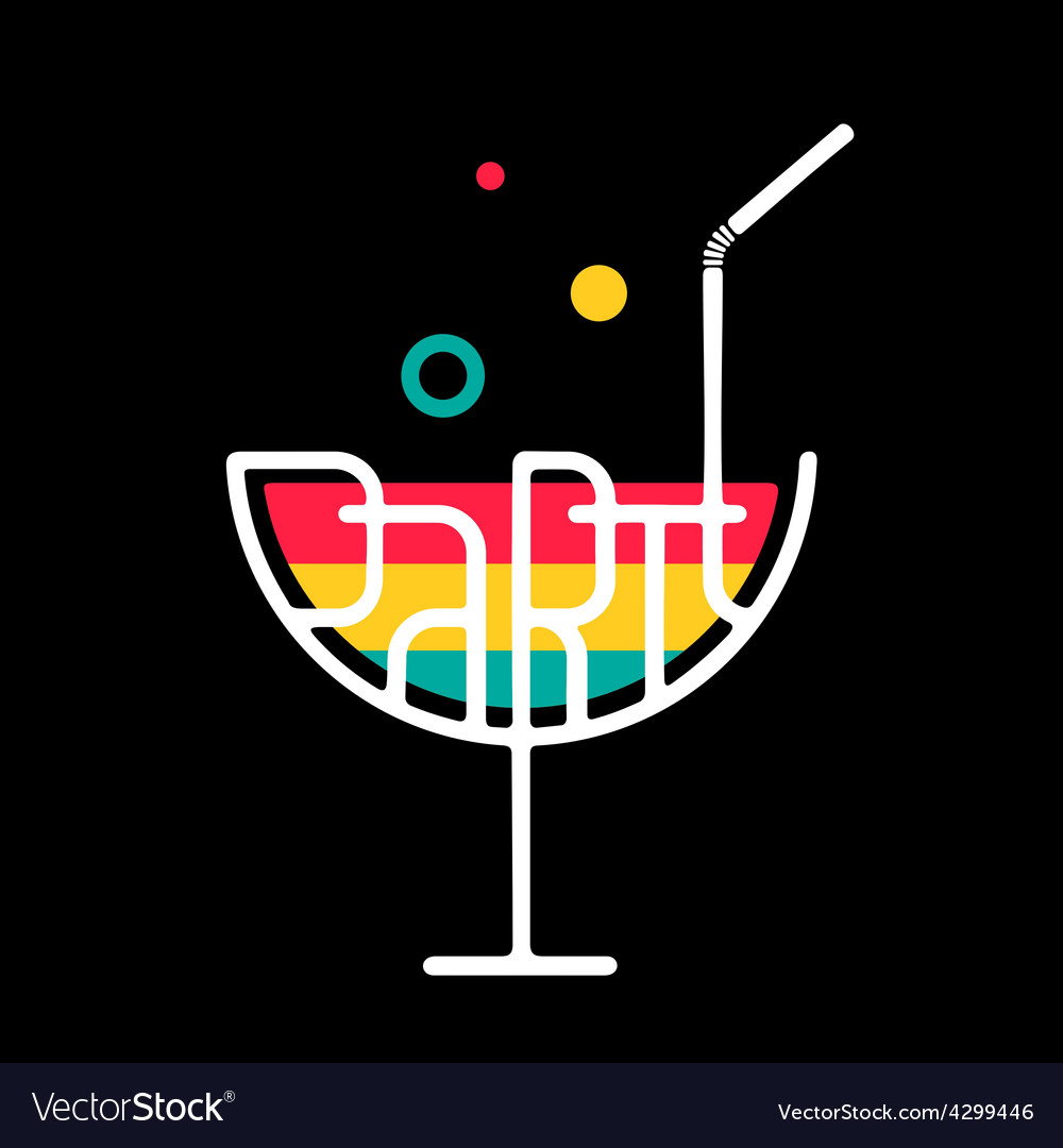 Symbol cocktail party vector
