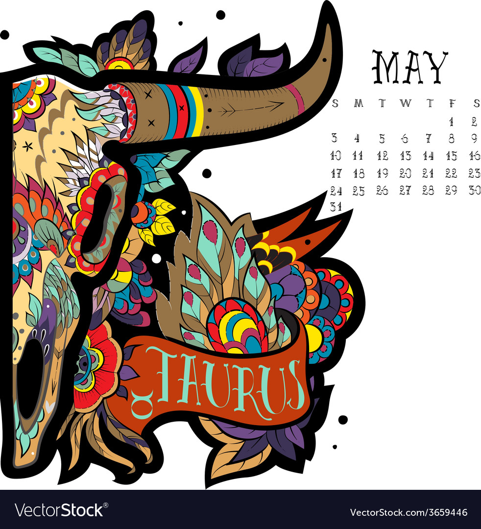 Taurus color vector | Price: 1 Credit (USD $1)