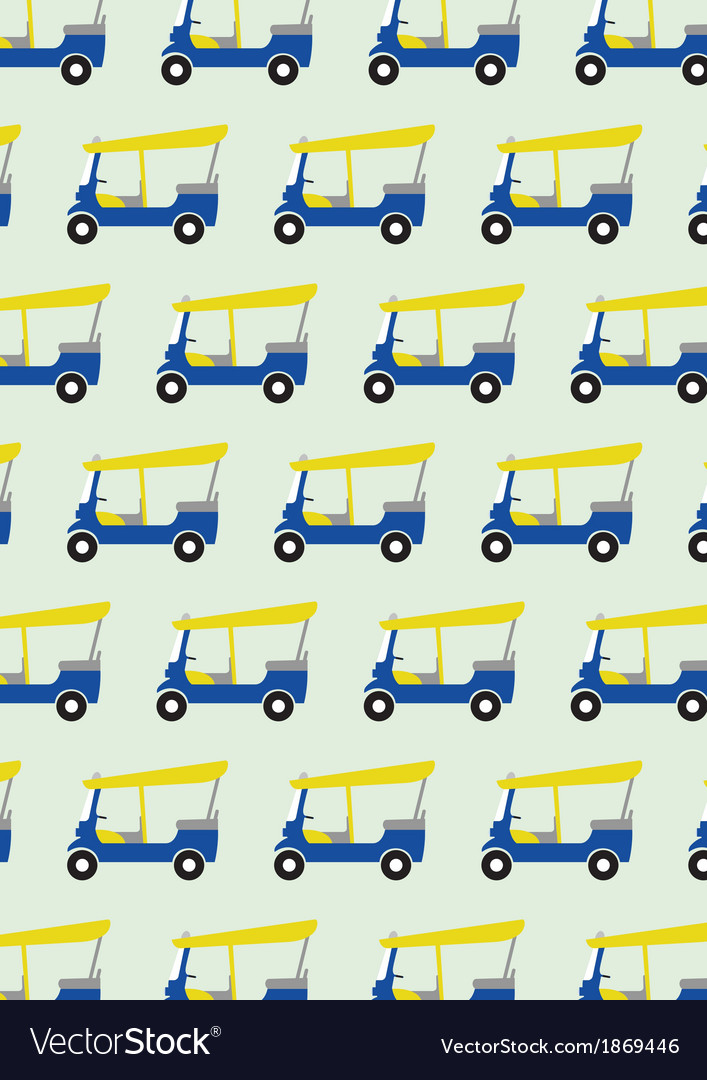Taxi tuktuk pattern vector | Price: 1 Credit (USD $1)