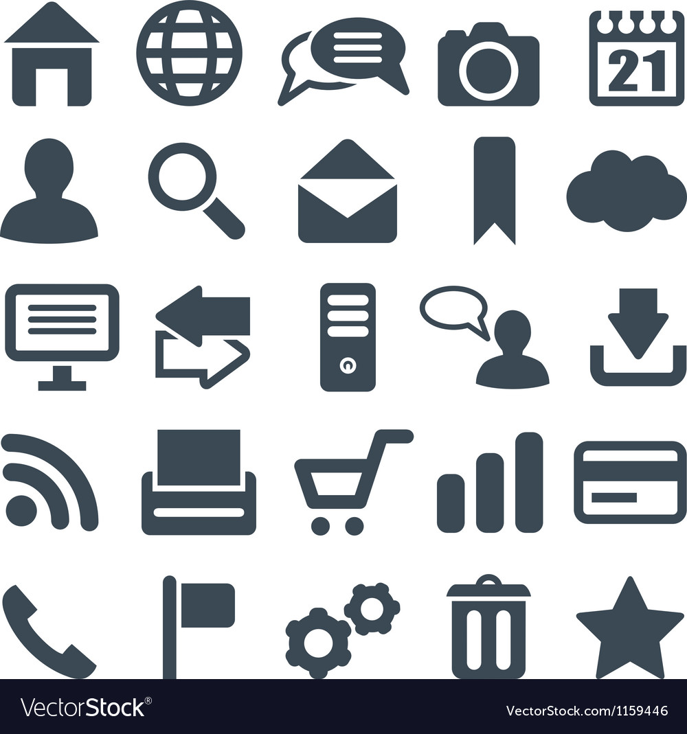 Universal set of icons for web and mobile vector | Price: 1 Credit (USD $1)