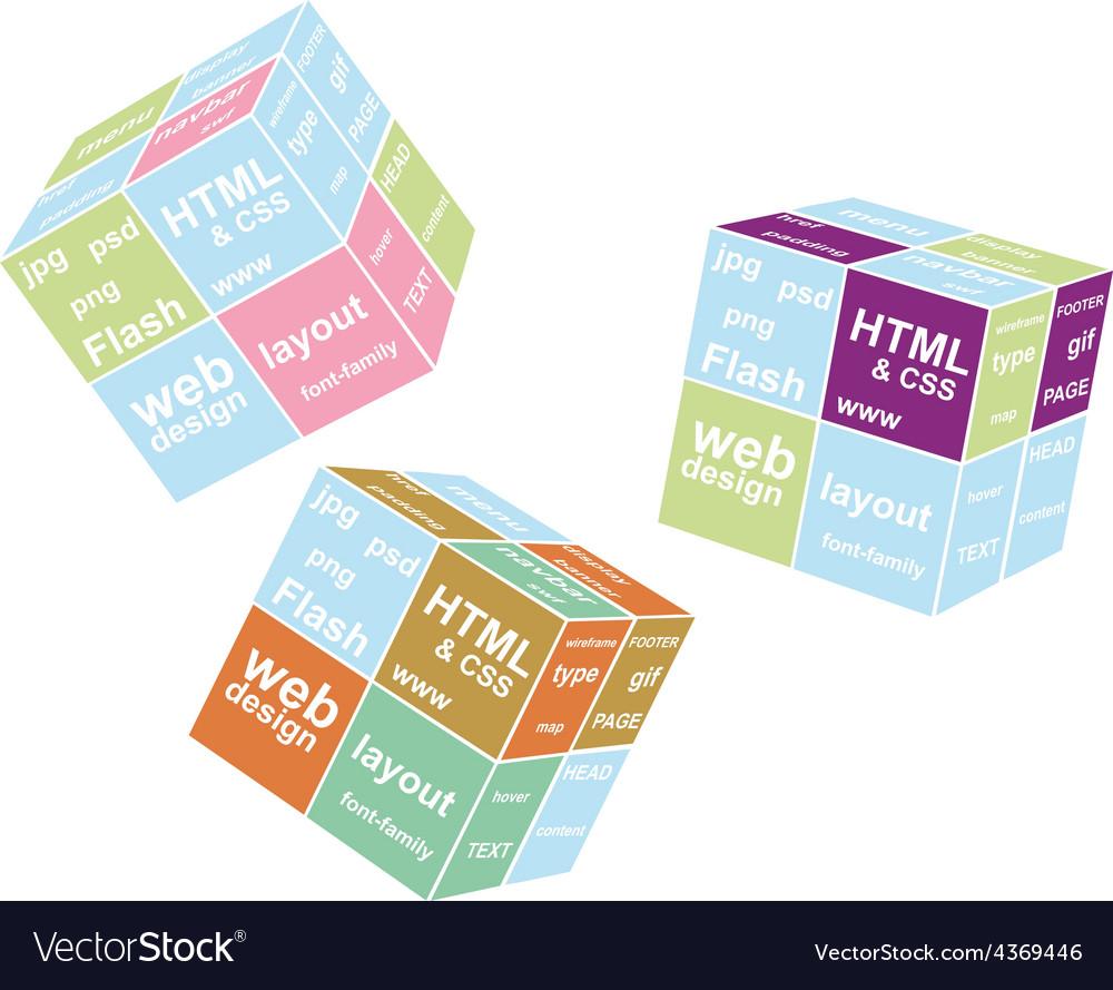 Web cube vector | Price: 1 Credit (USD $1)