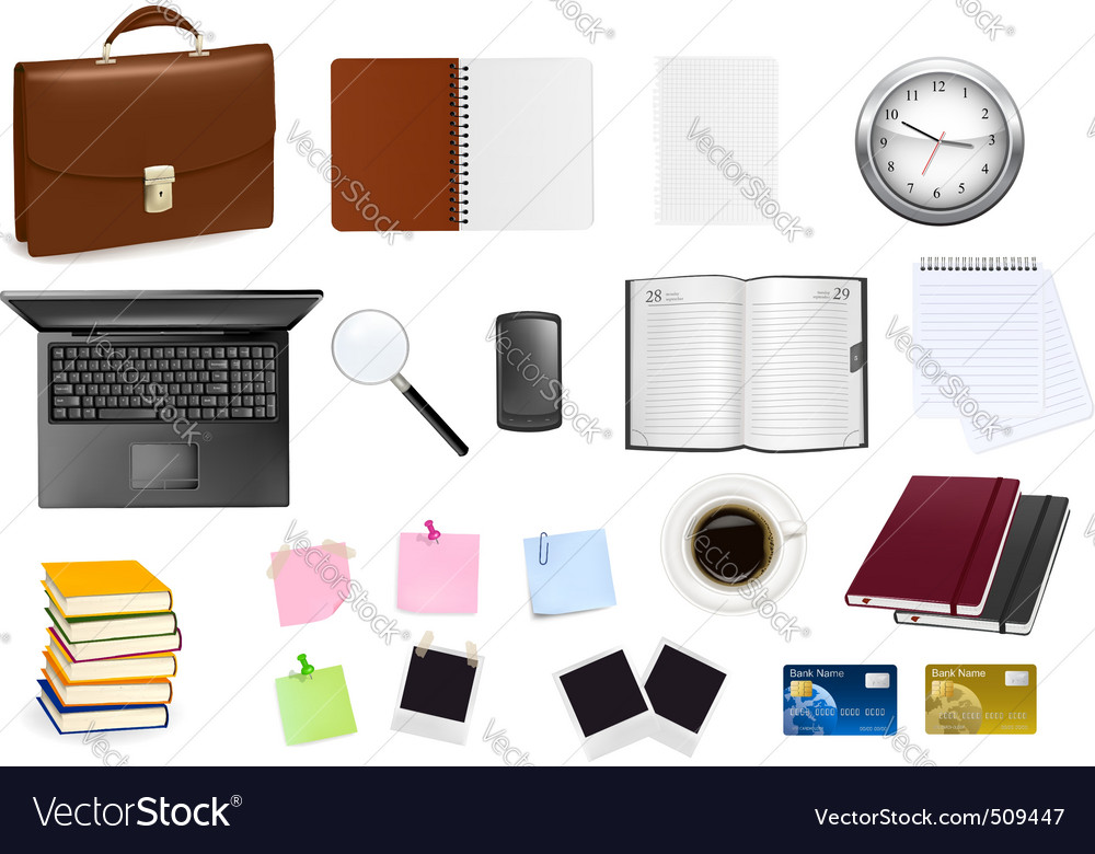 Big colection of business elements vector | Price: 3 Credit (USD $3)