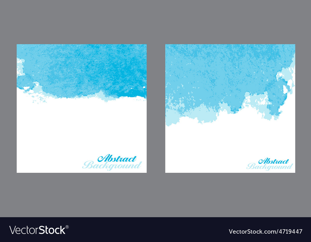 Blue abstract watercolor paint splashes vector | Price: 1 Credit (USD $1)