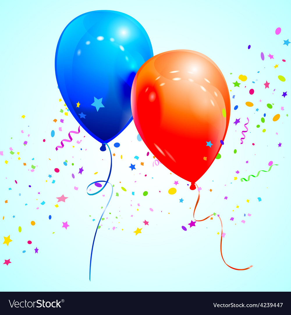 Blue and red balloons vector   Price: 1 Credit (USD $1)