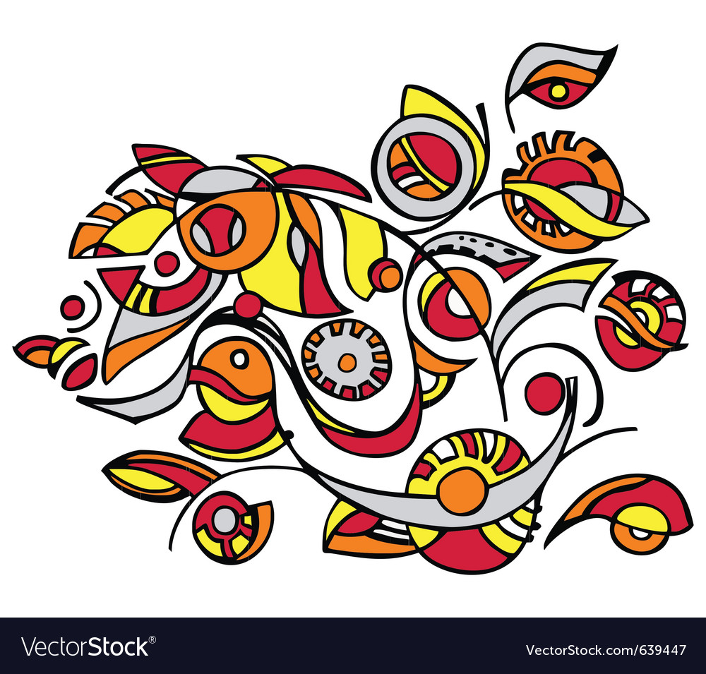 Decorative floral design vector | Price: 1 Credit (USD $1)