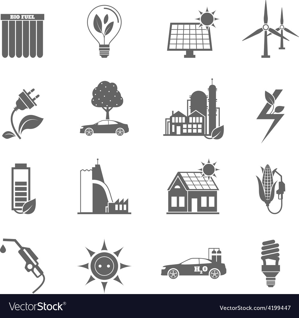 Eco energy icon vector