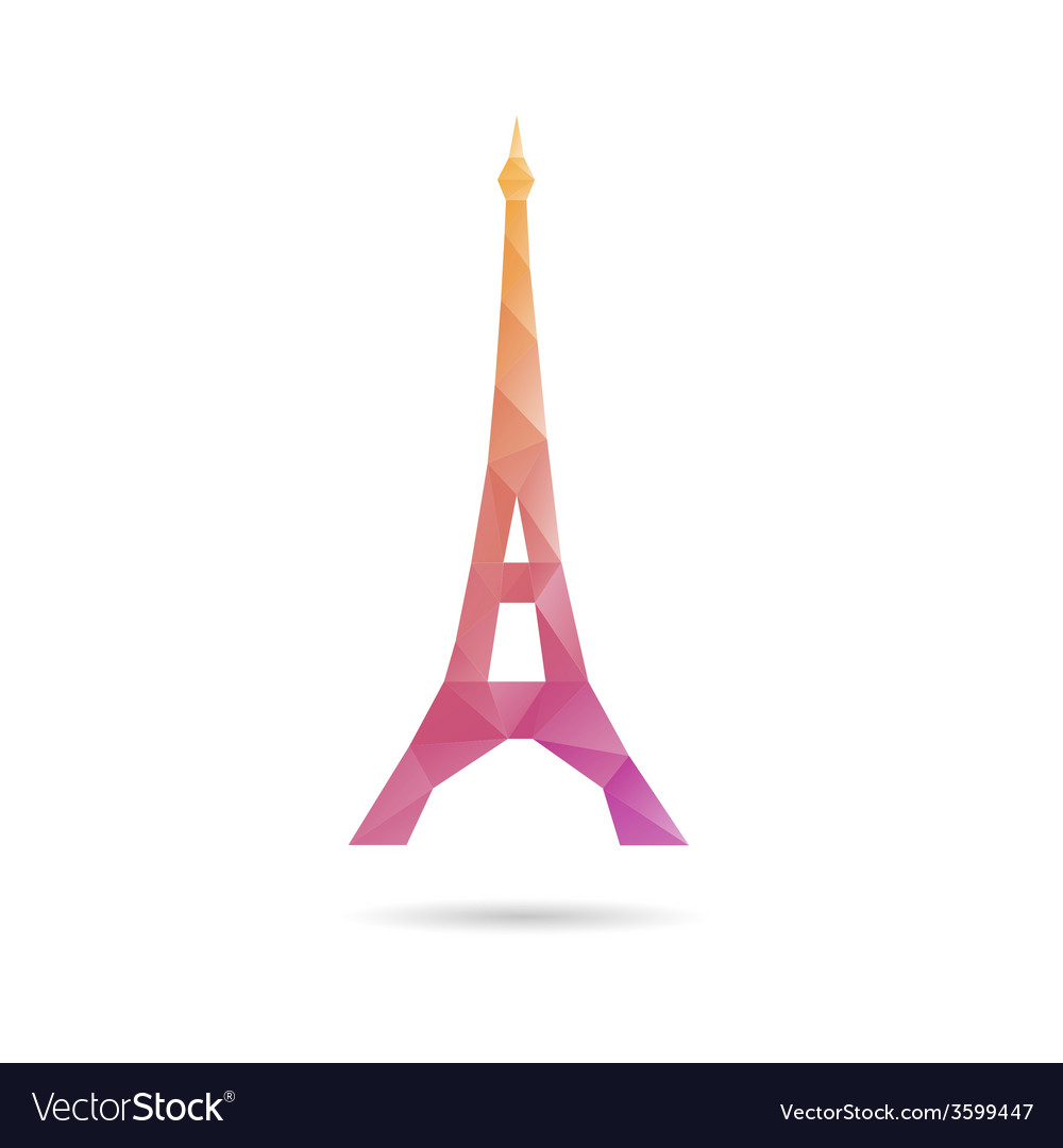 Eiffel tower abstract isolated vector | Price: 1 Credit (USD $1)