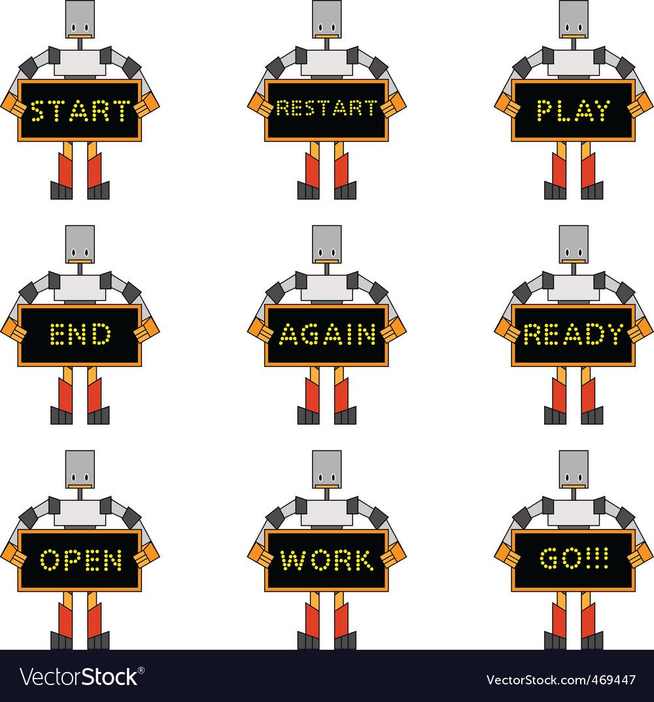 Funky robots vector | Price: 1 Credit (USD $1)