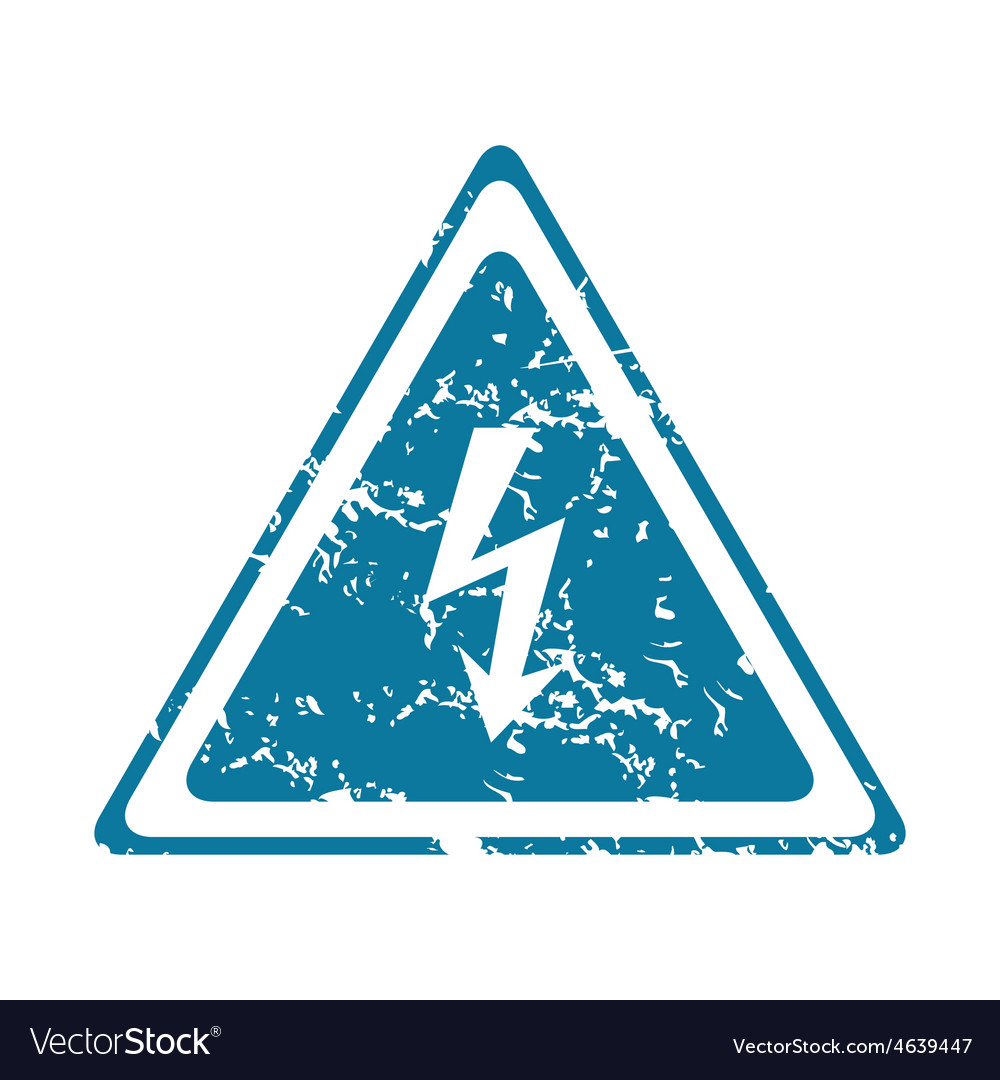 Grunge high voltage icon vector | Price: 1 Credit (USD $1)